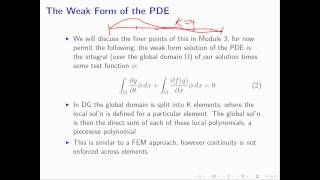 Weak Form M1.3 - Intro to DG