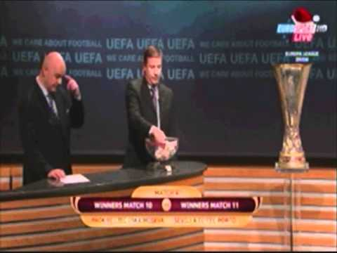 Europa League 2nd Round Draw Highlights (very bad quality)