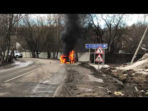 Шевроле Круз сгорел 20.03.19 ул. Быковская