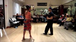 Tango Lesson: Back Enrosque to Forward Boleo Flow