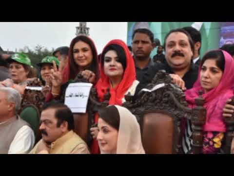 Part-4 Madiha Rana Leading PMLN Women Youth Wing Rally @ Social Media Convention 8th March 2018, FSD