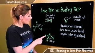 Bonding Pair Electrons vs Lone Pair Electrons