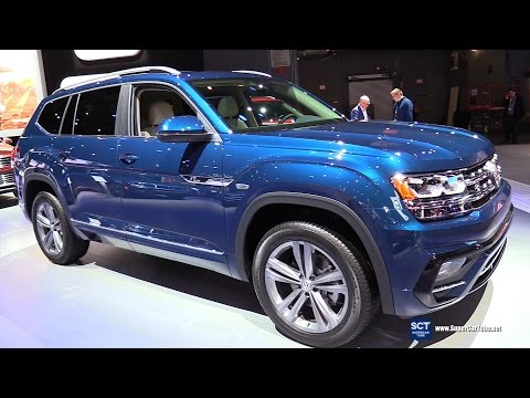 2018 Volkswagen Atlas R Line V6 4motion Exterior Interior Walkaround 2017 New York Auto Show