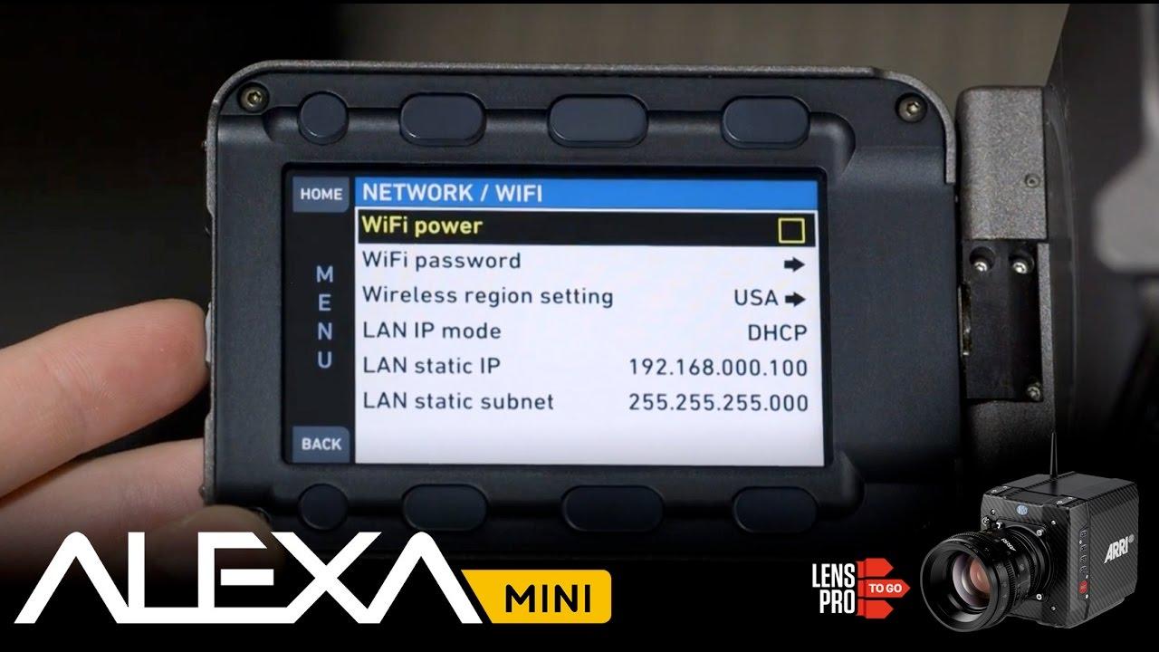 ARRI Alexa Mini - WiFi Setup Instructions