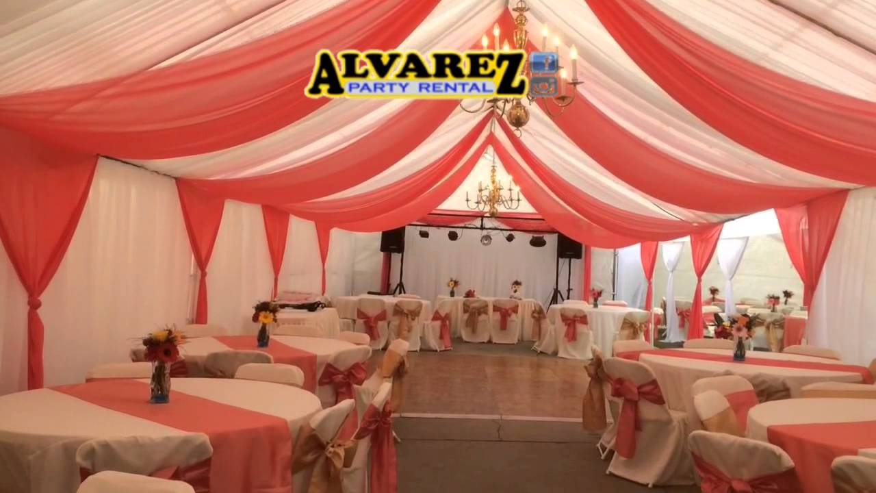 Great Alvarez Party Rental (wedding In Ivory, Coral And Gold)   YouTube