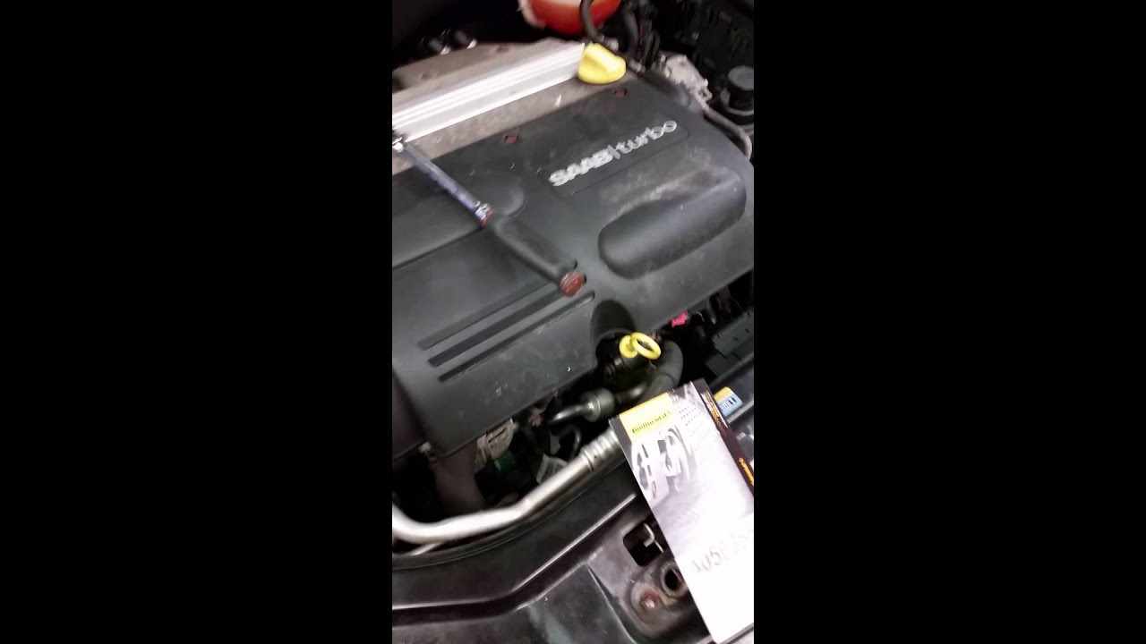 small resolution of saab 9 3 serpentine belt ac delete