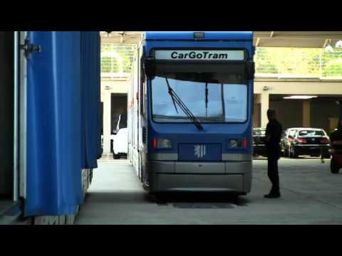 CarGoTram Dresden (Germany) - How tramcars avoid truck transfers