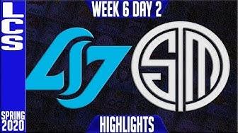 CLG vs TSM Highlights   LCS Spring 2020 W6D2   Counter Logic Gaming vs Team Solomid