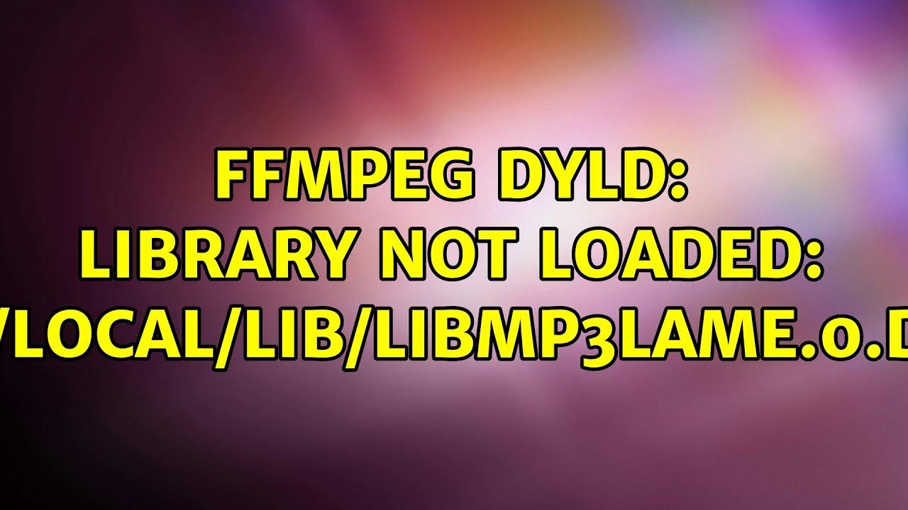 Libmp3lame Dylib