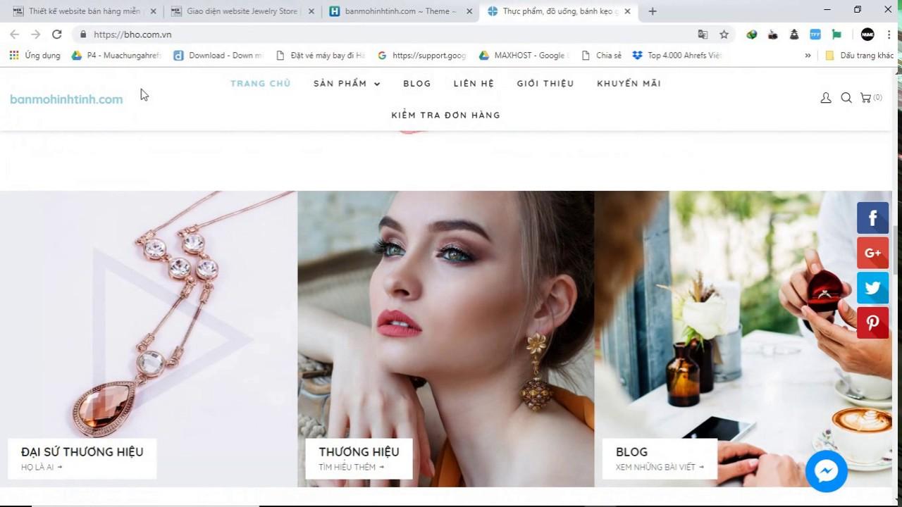Cách cài đặt Giao diện Website Jewelry Store | Thietkewebfree.com