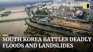 South Korean floods and landslides kill dozens, displace thousands