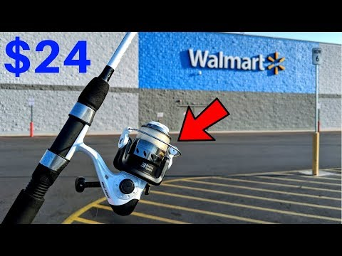 Fishing w/ CHEAPEST Rod/Reel Combo at WALMART (CHALLENGE)