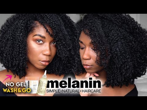 Soft Fluffy Wash And Go WITHOUT GEL – ft. Melanin Haircare | No Gel Defined Type 4 Natural Hair