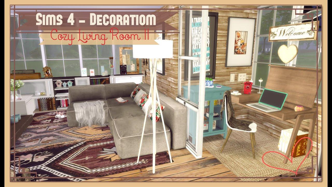 sims 4 cozy living room ii youtube
