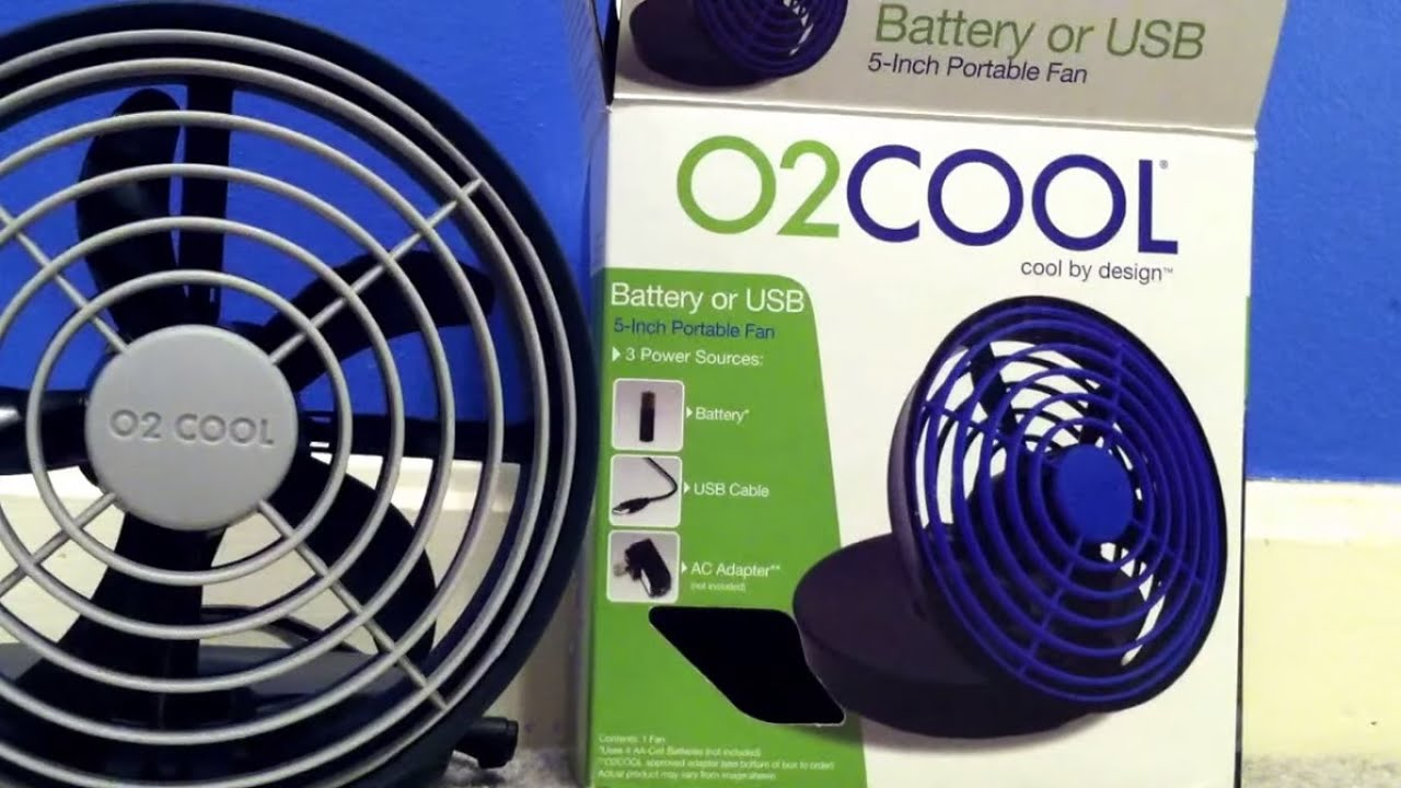 02 Cool 5 Battery Fan : Cool usb fan youtube