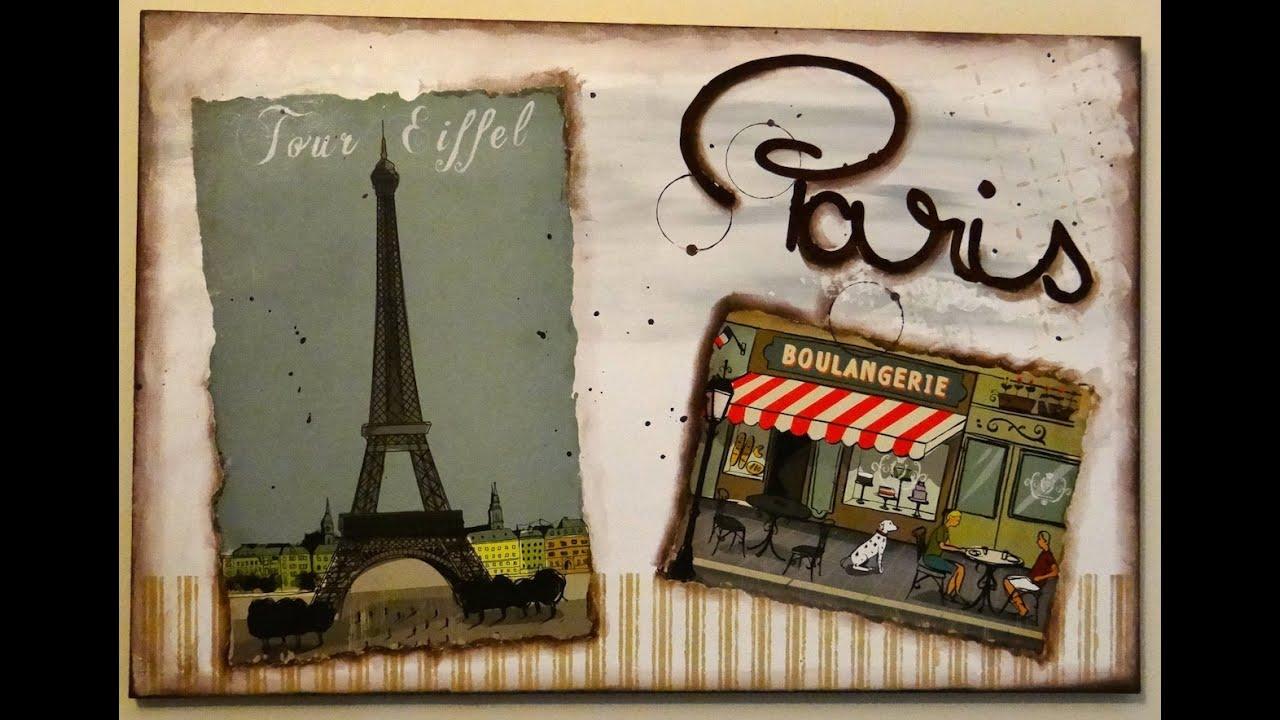 Tuto collage tableau paris youtube for Tableau paris londres new york