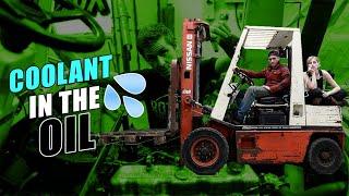 Cheap Broken Forklift Gets a New Engine