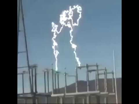 Corona effect when switching ON/OFF a substation