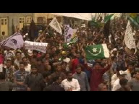Protests held in Srinagar after Friday prayers