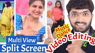vuclip Dance/Music/Song Video Editing | Multi View, Split Screen Effect | Premiere Pro