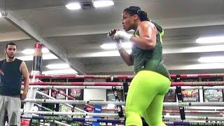 Latondria Jones getting back into boxing shape inside the Mayweather Boxing Club