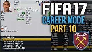 FIFA 17 Career Mode Gameplay Walkthrough Part 10 - BYE BYE PAYET (West Ham)