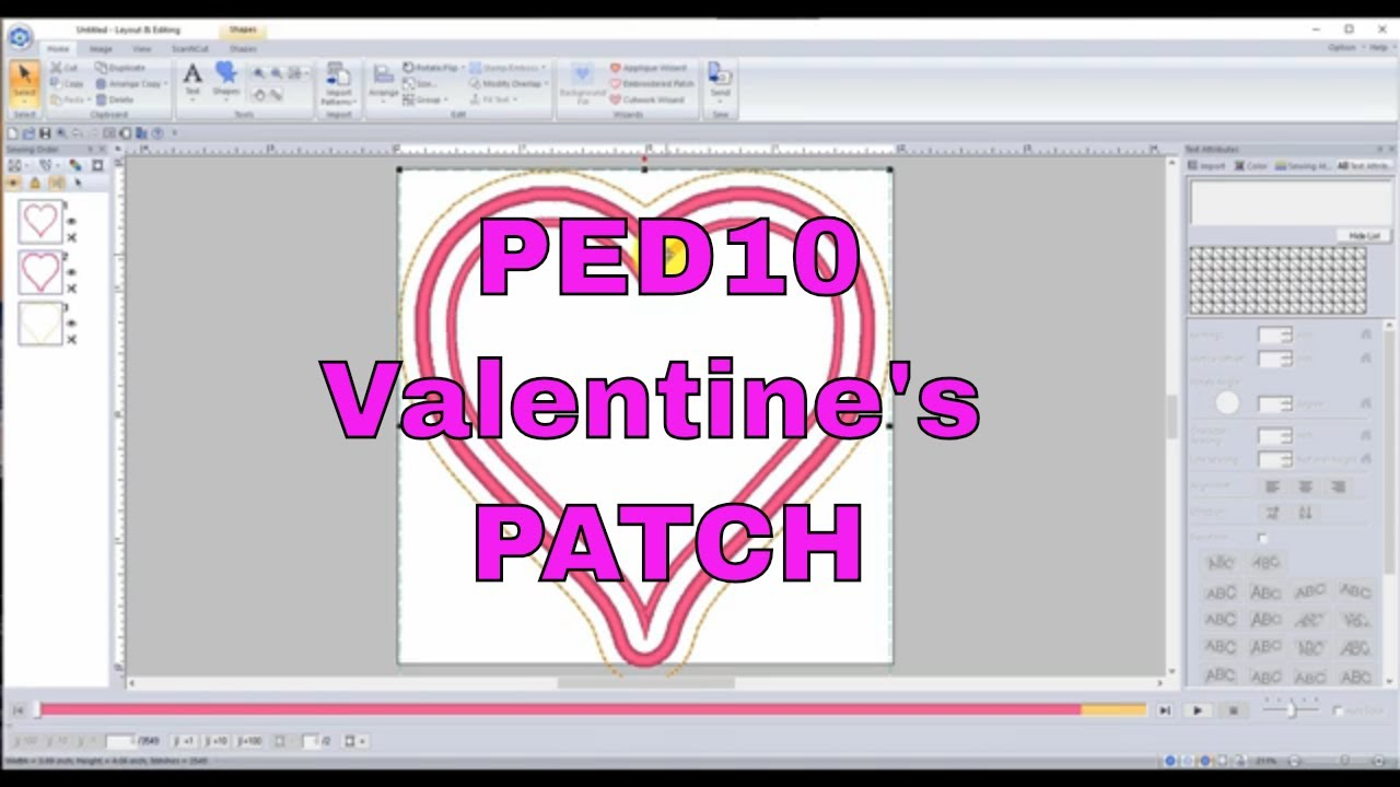 Pe Design 10 11 Create Your Own Embroidered Ith In The Hoop Patch Youtube