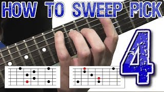 How to Sweep Pick #4 - 5-String Arpeggios