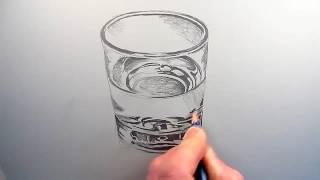WAPBOM COM   How to Draw a Glass of Water