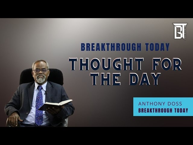 Importance of Sabbath - Anthony Doss - Thought for the day (Tamil)