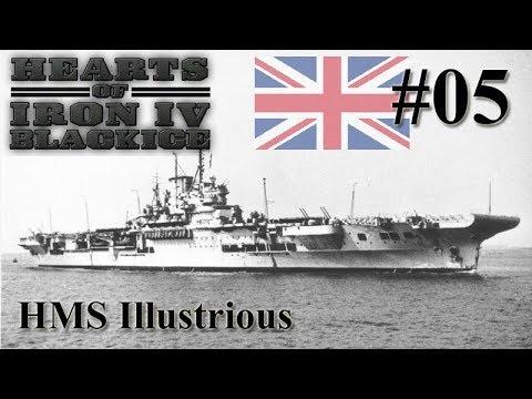 Hearts of Iron IV BlackICE - Britain 05 HMS Illustrious