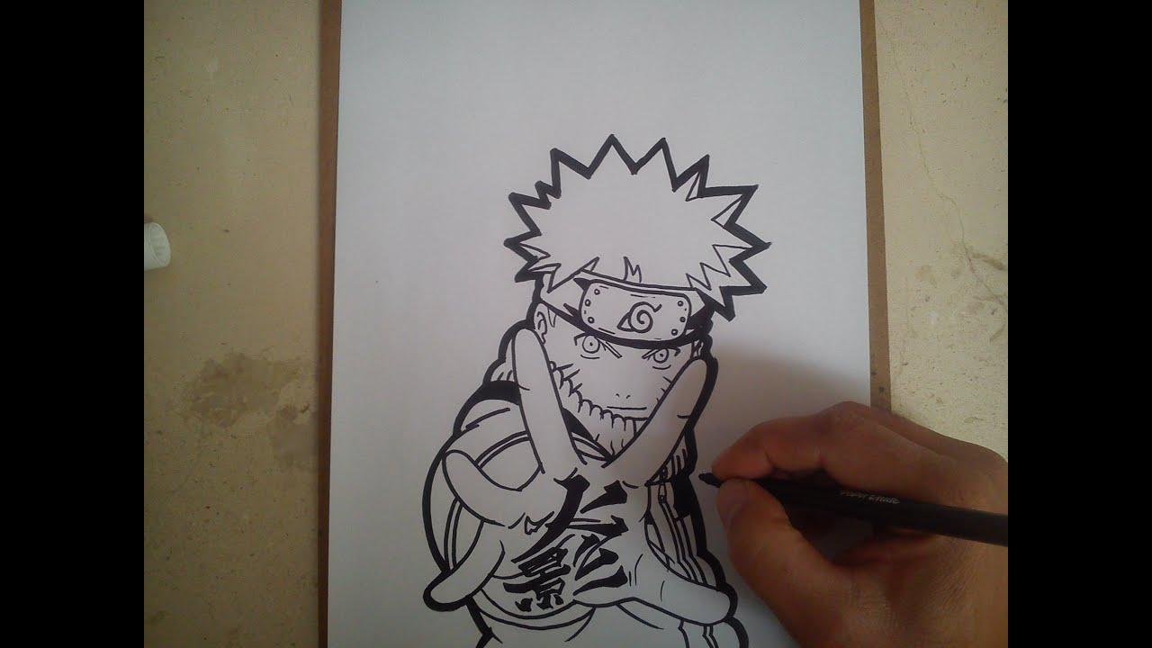 COMO DIBUJAR A NARUTO  how to draw naruto  YouTube