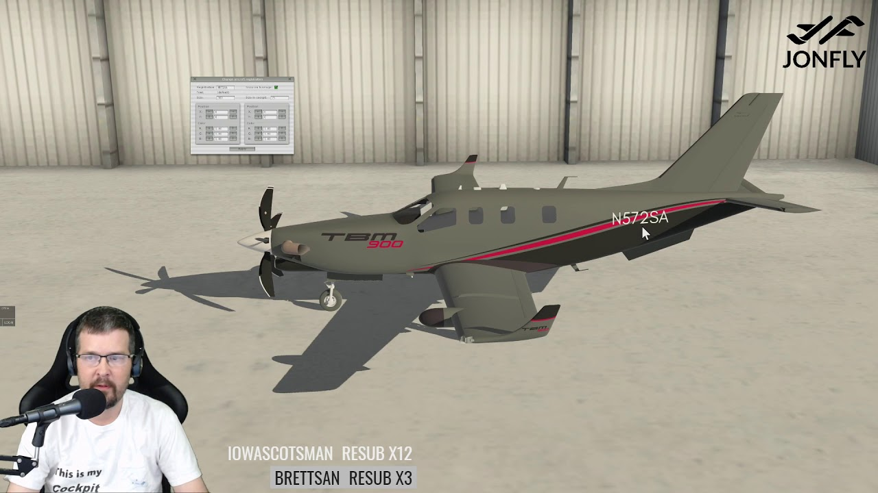 Alpha Preview X-Plane TBM900 by Totoritko  Lesson from the man himself -  Recorded Livestream