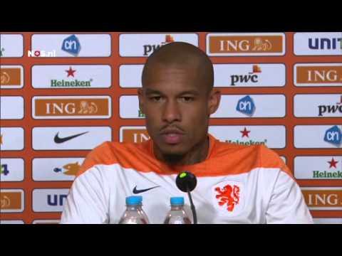Nigel de Jong na training Oranje | WK Voetbal 2014