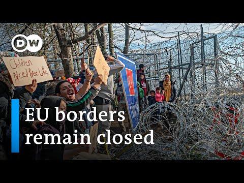EU fortifies Greek border against refugee influx | DW News