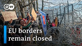 EU solidifies Greek border against refugee influx | DW News