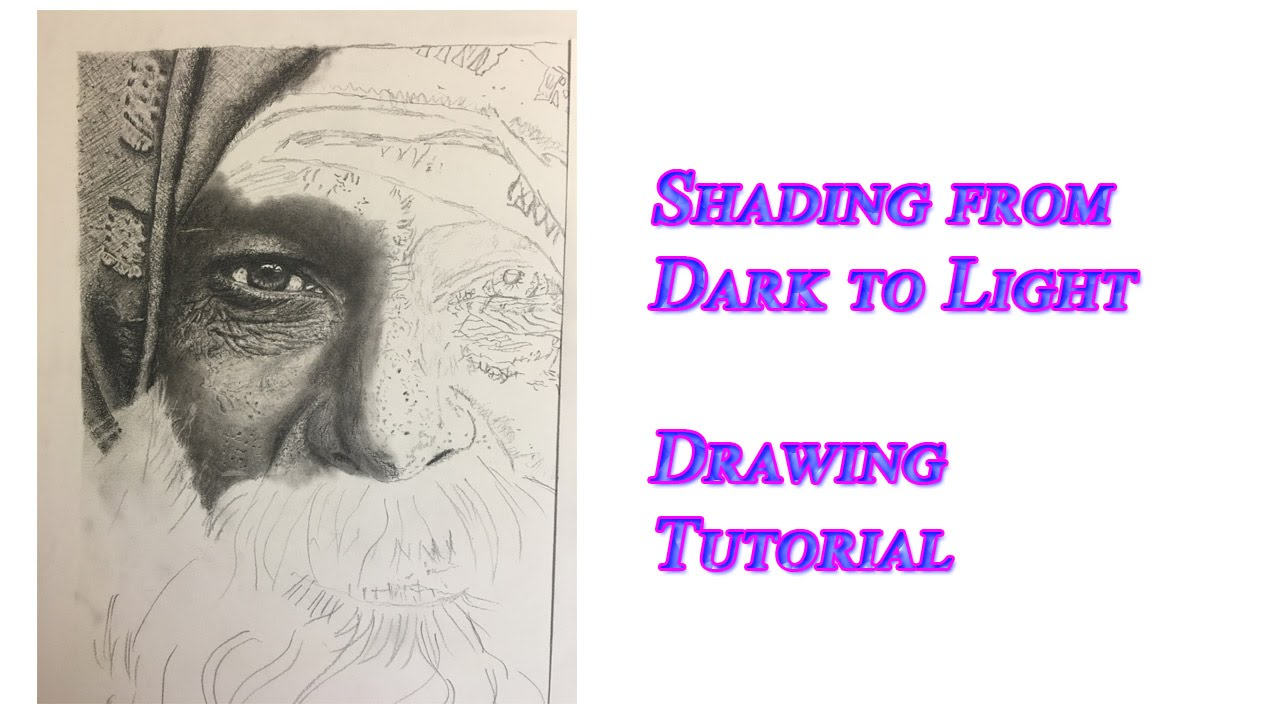 Shading from dark to light drawing tutorial pencil demo