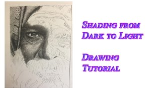Shading from Dark to Light | Drawing Tutorial | Pencil Demo