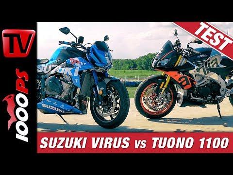 Der Regent unter den Nakedbikes? Suzuki Virus II vs. Aprilia Tuono V4 - Vergleichstest Rennstrecke
