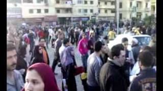 Protest ( Demonstration ) in Mansoura - Egypt in 1 February 2011 No2.mp4