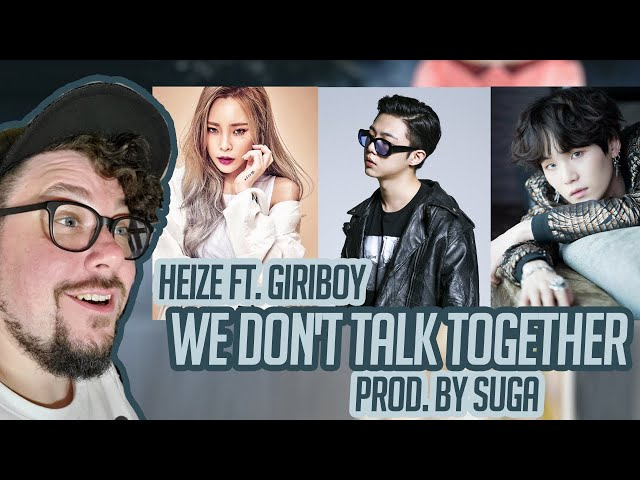 Mikey Reacts to Heize - We don't talk together Feat. Giriboy - Prod. SUGA - MV