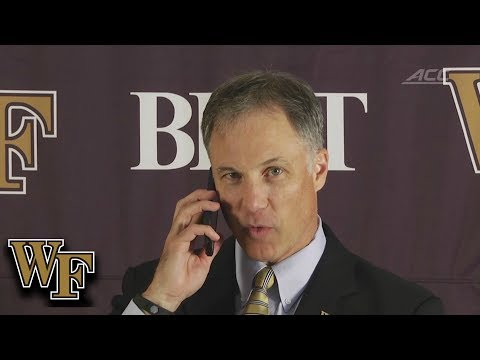 Wake Forest Head Coach Dave Clawson Answers Reporter