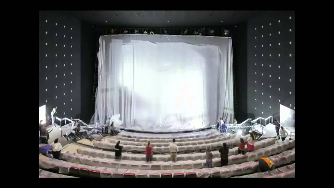 Boeing IMAX Theater Renovation Screen Installation YouTube