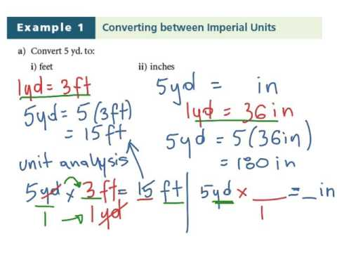 Lesson 1.1 Imperial Units of Measure: Math 10C