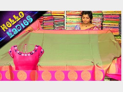 Trendy Collection Kanchi Organza & Linen Jute Sarees || Hello Ladies || Vanitha TV