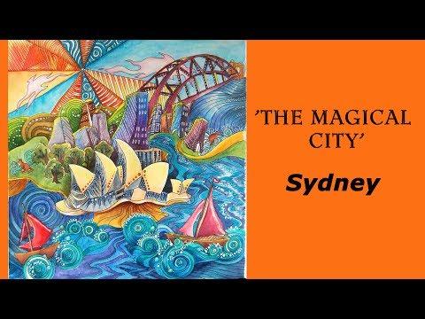"Colouring 'Magical city' Sydney / Раскраска-антистресс ""Магия городов"""