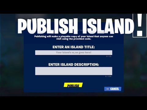 How to Publish Your Own Island and get your own Code