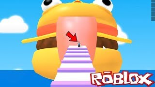 Let's ESCAPE THE GIANT Durr Burger in Roblox FORTNITE OBBY