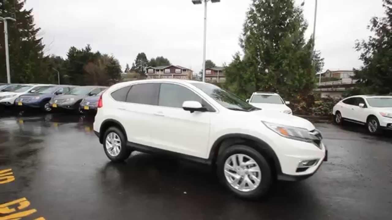 2015 Honda CRV EX  White  FL012036  Seattle  Renton  YouTube