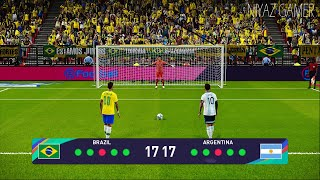 PES 2021 | BRAZIL VS ARGENTINA | Penalty Shootout | MESSI VS NEYMAR Gameplay PC
